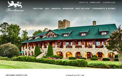 Screenshot of Contact Page clubcorp.com - Contact Us | Firethorne Country Club - captured Oct. 10, 2018