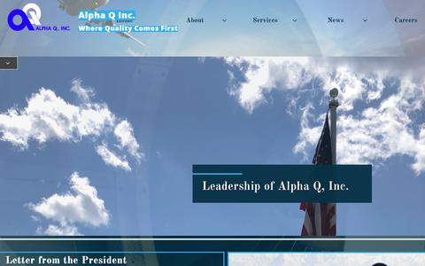 Screenshot of Team Page alphaqinc.com - Leadership - captured Nov. 6, 2018