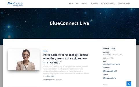 Screenshot of Blog blueconnect.com.ar - Blueconnect – Contact Center – BlueConnect  Live - captured Oct. 6, 2018