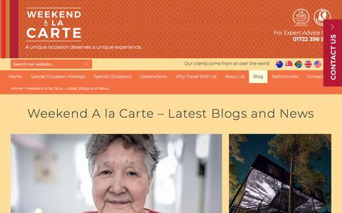 Screenshot of Blog weekendalacarte.co.uk - Weekend A la Carte – Latest Blogs and News - WEEKEND A LA CARTE - captured Sept. 20, 2018