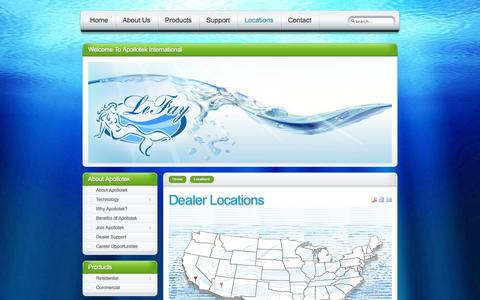 Screenshot of Locations Page lefay.us - LeFay Water Purification - Dealer Locations - captured Oct. 2, 2014