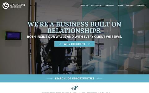Screenshot of Home Page crescentsolutions.net - Crescent Solutions – We're a full-service IT solutions company that puts our clients first. - captured June 13, 2016