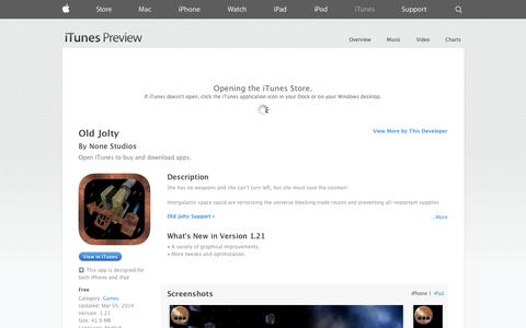 Screenshot of iOS App Page apple.com - Old Jolty on the App Store on iTunes - captured Oct. 26, 2014