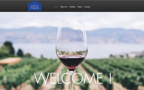 Screenshot of Home Page avenue-terroir.com - French Wine | Avenue Terroir - captured Dec. 9, 2018
