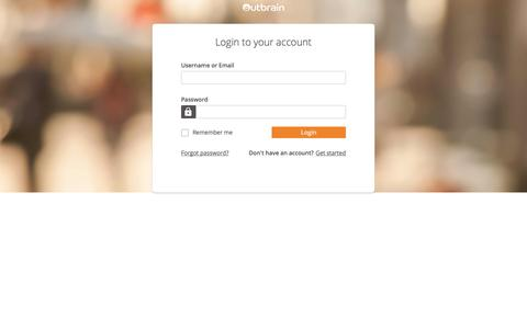 Screenshot of Login Page outbrain.com - Outbrain - Sign In - captured April 18, 2018