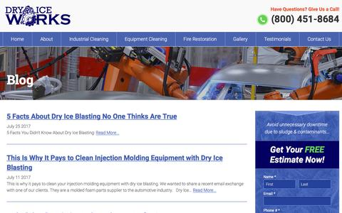 Screenshot of Blog dryiceworks.com - Blog - Dry Ice Works - captured Oct. 13, 2017
