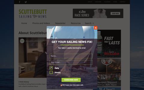 Screenshot of About Page sailingscuttlebutt.com - About Scuttlebutt >> Scuttlebutt Sailing News - captured Oct. 9, 2018