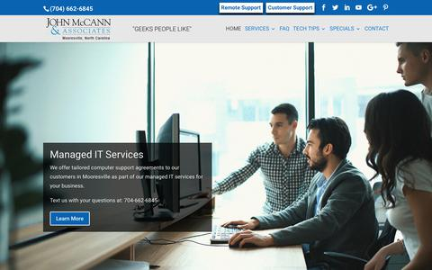 Screenshot of Home Page mccannassociates.com - IT Services in Mooresville, NC | John McCann and Associates, Inc. - captured Oct. 16, 2017