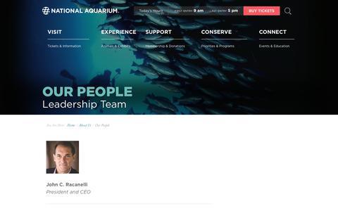 Screenshot of Team Page aqua.org - National Aquarium | Our People - captured June 2, 2019