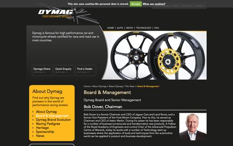 Screenshot of Team Page dymag.com - Dymag | Board & Management - captured Oct. 11, 2016