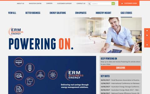 Screenshot of Case Studies Page ermpower.com.au - Case Studies Archives - ERM Power | Business power specialists - captured May 13, 2017