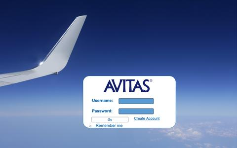 Screenshot of Login Page avitas.com - AVITAS - The Leading Advisor to the Aviation Industry - captured Dec. 9, 2018