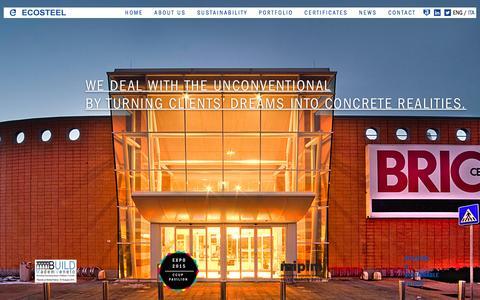 Screenshot of Home Page eco-steel.it - Ecosteel - Steel Building - captured Jan. 26, 2016