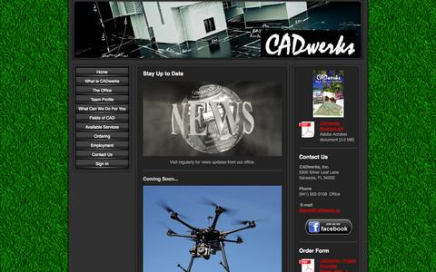 Screenshot of Press Page cadwerks.us - News - Your Premier CAD Solutions Company! - captured Oct. 1, 2014