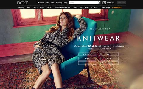 Screenshot of Home Page next.co.uk - Next Official Site: Womens & Mens Fashion, Kids Clothes & Homeware - captured Oct. 28, 2015