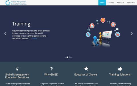 Screenshot of Home Page global-mes.com - Global MES - captured Nov. 7, 2016