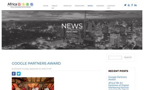 Screenshot of Press Page africa118.com - News - captured Oct. 3, 2018