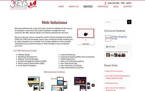 Screenshot of Services Page 3-keys.com - Website Design Development Agency in San Francisco Bay Area USA - captured Dec. 2, 2016
