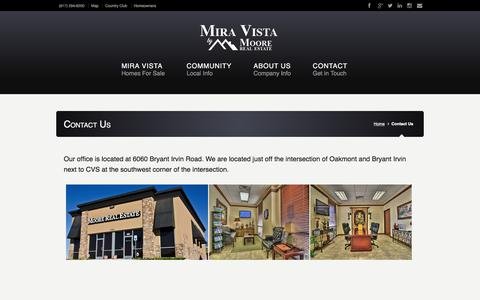 Screenshot of Contact Page miravistahomesforsale.com - Mira Vista Homes For Sale - Contact Info - captured Feb. 8, 2018