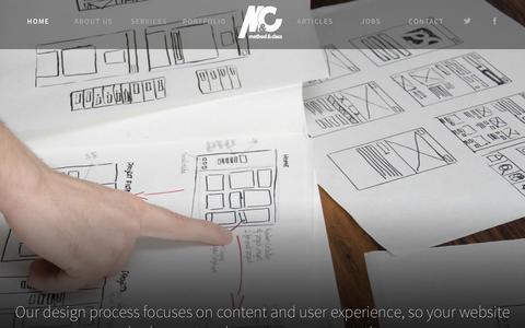 Screenshot of Home Page methodandclass.com - Web Design Milton Keynes // Web App Development // Method & Class - captured Nov. 17, 2015