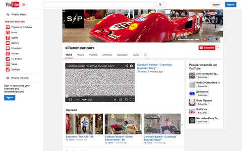 Screenshot of YouTube Page youtube.com - siltanenpartners  - YouTube - captured Oct. 23, 2014