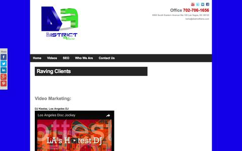 Screenshot of Testimonials Page districtflaire.com - DISTRICT Flaire|  Raving Clients - captured June 3, 2017