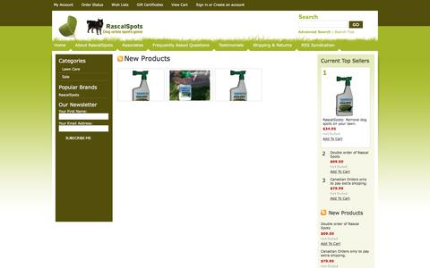 Screenshot of Home Page rascalspots.com - Rascal Spots: No more dog urine spots on your lawn. - captured Nov. 29, 2016