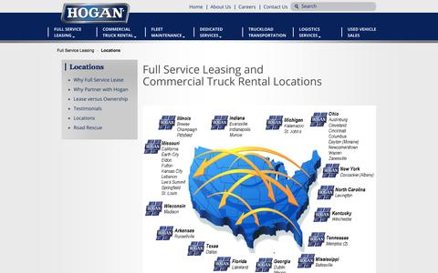 Screenshot of Locations Page hogan1.com - Locations | Hogan Transportation & Logisitcs - captured Nov. 2, 2014