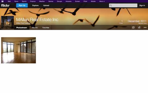 Screenshot of Flickr Page flickr.com - Flickr: MAllan Real Estate Inc's Photostream - captured Oct. 23, 2014