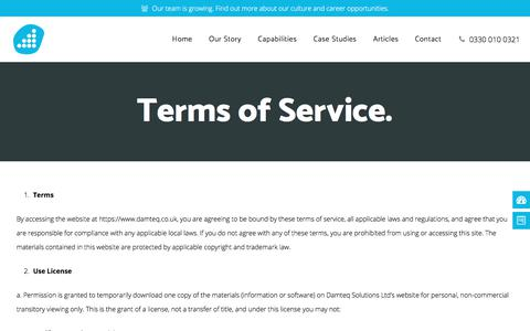 Terms of Service. - Web Design Fareham | SEO Hampshire | Digital Marketing Agency