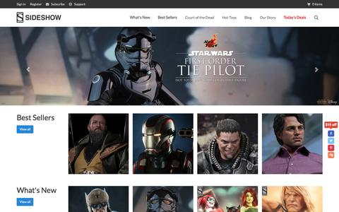 Screenshot of Home Page sideshowtoy.com - Pop Culture Collectible Figures   Sideshow Collectibles - captured Oct. 2, 2015