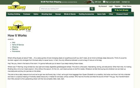 Screenshot of FAQ Page Terms Page wingsupply.com - Wing Supply - How It Works | Wing Supply - captured June 24, 2016