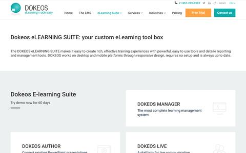 DOKEOS ELEARNING SUITE: managing your elearning experience made easy