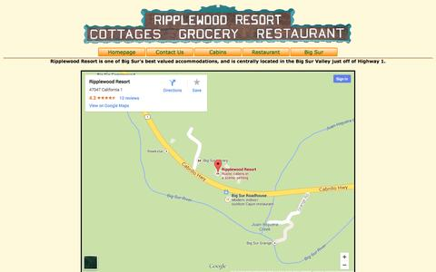 Screenshot of Maps & Directions Page ripplewoodresort.com - Directions to Ripplewood - captured Sept. 30, 2014