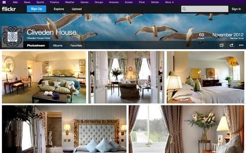 Screenshot of Flickr Page flickr.com - Flickr: Cliveden House Hotel's Photostream - captured Oct. 22, 2014