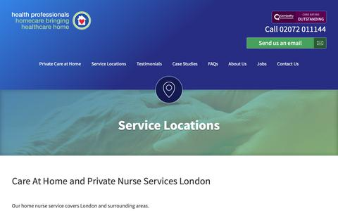 Screenshot of Maps & Directions Page hphomecare.co.uk - ServiceLocations - captured Sept. 27, 2018