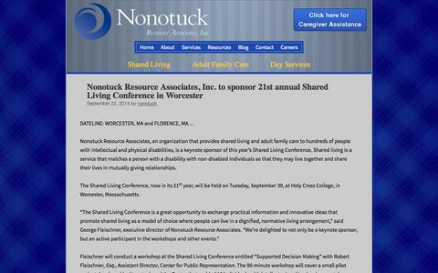 Screenshot of Press Page nonotuck.com - News - Nonotuck - captured Oct. 7, 2014