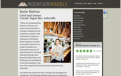 Screenshot of Testimonials Page mountainmarble.com - Mountain Marble - captured Nov. 30, 2016