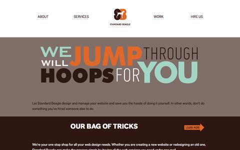Screenshot of Home Page standardbeagle.com - Standard Beagle Studio | Websites, Content & Consulting Services - captured Oct. 7, 2014