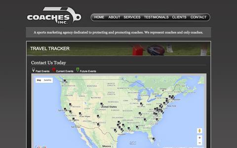 Screenshot of Maps & Directions Page coachesinc.com captured Dec. 9, 2015