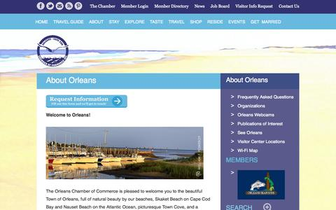Screenshot of About Page orleanscapecod.org - About Orleans | Orleans Chamber of Commerce - captured Oct. 6, 2014