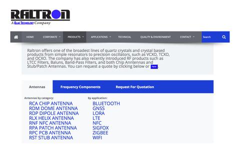 Screenshot of Products Page raltron.com - Raltron - captured July 2, 2017