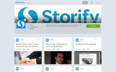Screenshot of Blog storify.com - Storify's social stories · Storify - captured Sept. 17, 2014