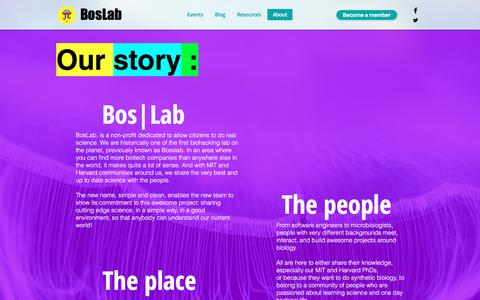 Screenshot of About Page boslab.org - Boslab | About - captured Nov. 30, 2016