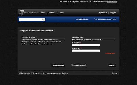 Screenshot of Login Page bookgifts.nl - Klant-login - captured Oct. 4, 2014