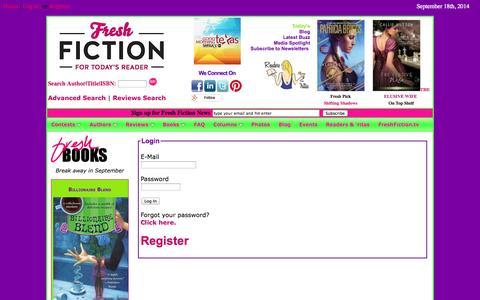 Screenshot of Login Page freshfiction.com - Login - captured Sept. 19, 2014