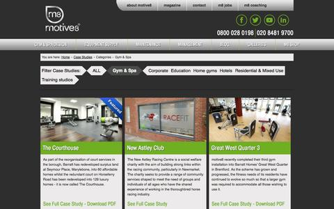 Screenshot of Case Studies Page m8group.co.uk - Gym & Spa Archives - M8Group - captured Oct. 26, 2014