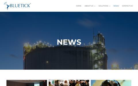Screenshot of Press Page bluetickinc.com - Bluetick News | Oilfield Automation and Land Management | Bluetick News - captured July 7, 2019