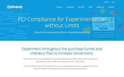 Optimizely X: PCI Compliance