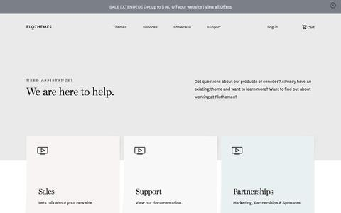 Screenshot of Contact Page flothemes.com - Get in Touch - Contact Flothemes - captured Aug. 20, 2019